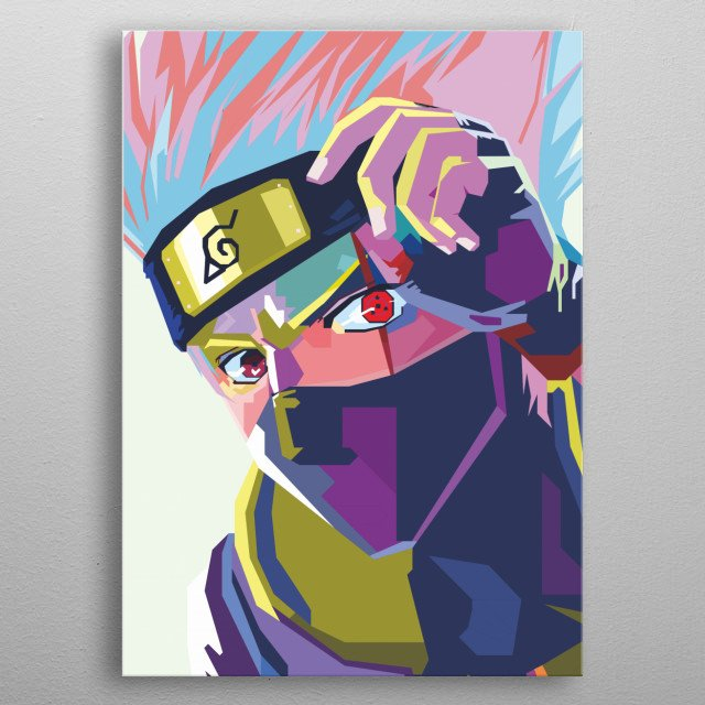 this artwork is inspired by japannesse ninja story in fiction story. metal poster