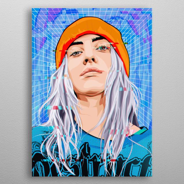 Digital artwork metal poster