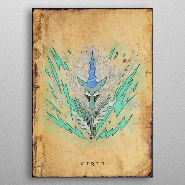 Monster Hunter World - Kirin Hunter's Notes Poster metal poster