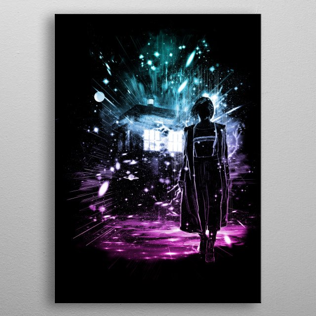 a tribute to the 13 th doctor metal poster