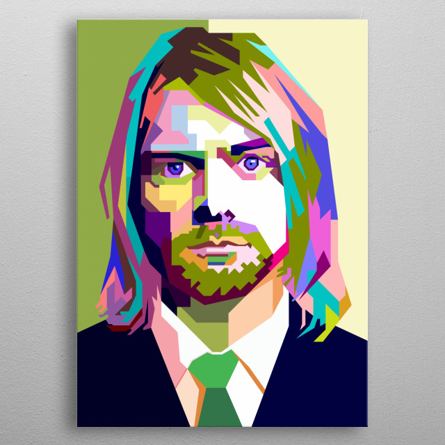 This illustration is inspired by a vocalist of NIrvana who had a great voice. metal poster