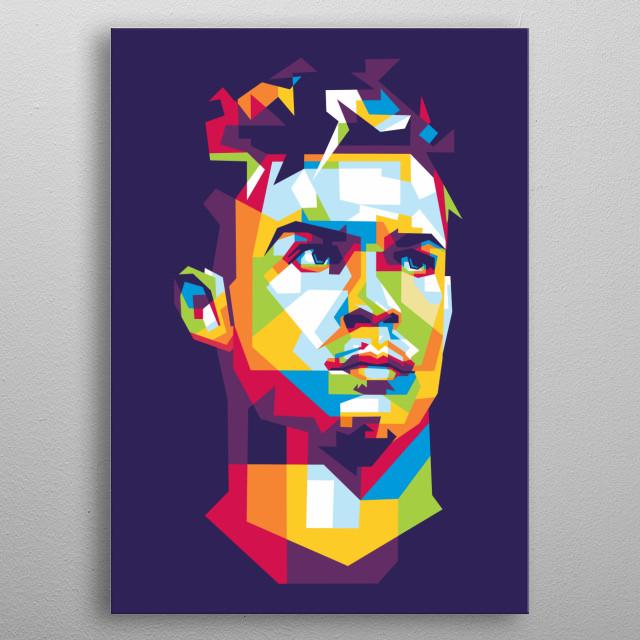 Cristiano Ronaldo CR7 WPAP Pop Art by @kucingkesetrum  I hope you like it :) metal poster