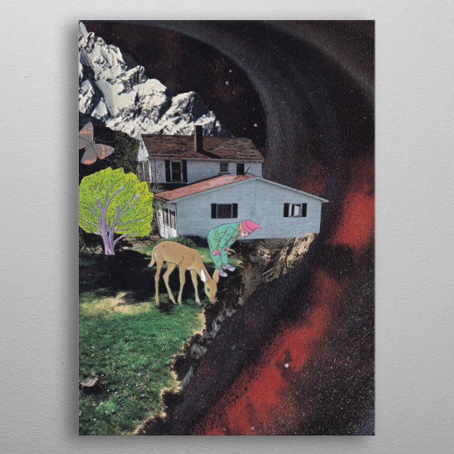collage, collage art, handmade collage, analog collage, paper collage, graphic-design, pop-art, photomontage, illustration, nature, animal,  metal poster