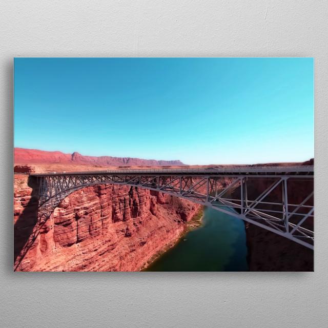 bridge in the desert at Utah, USA metal poster