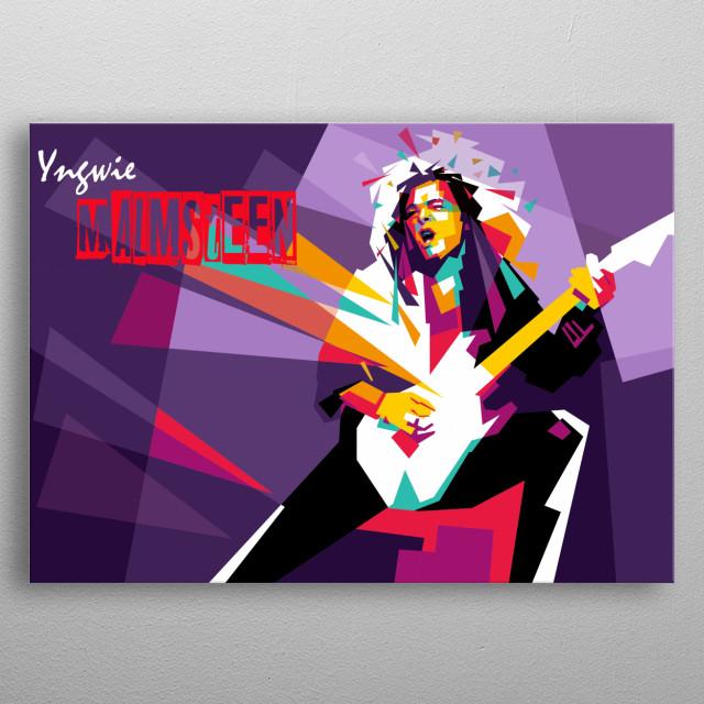 Yngwie Pop Art Style metal poster