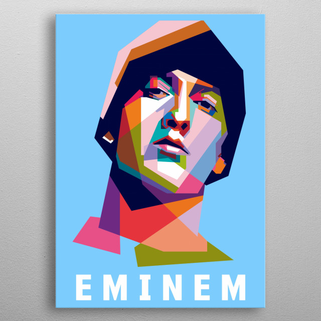 Marshall Bruce Mathers III (born October 17, 1972), known professionally as Eminem is an American rapper, songwriter, record producer, recor metal poster