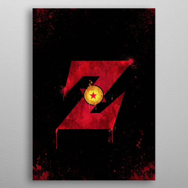 2D version from Dragon Ball Z • For the Fans metal poster
