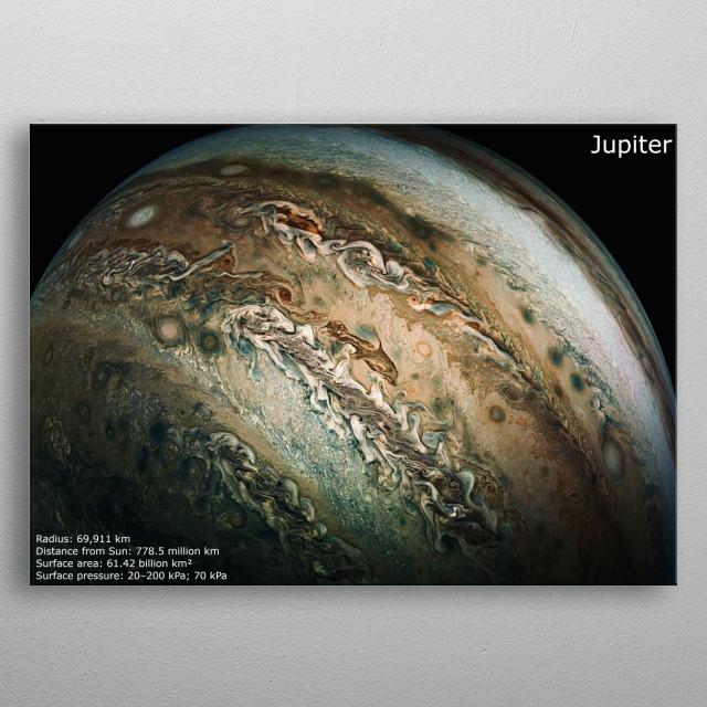The Planet Jupiter metal poster