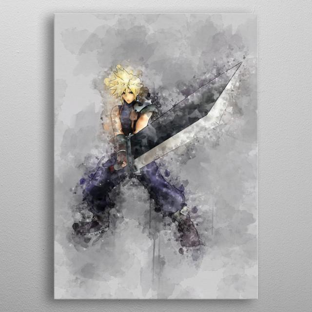 Final Fantasy - Cloud metal poster