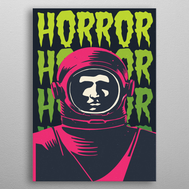 Artwork made based on Horror style used on vintage graphic novels. metal poster
