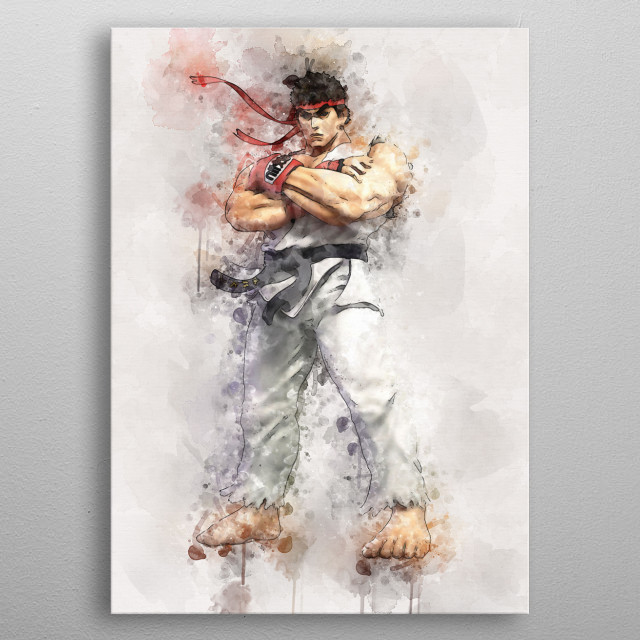 Street Fighter - Ryu metal poster
