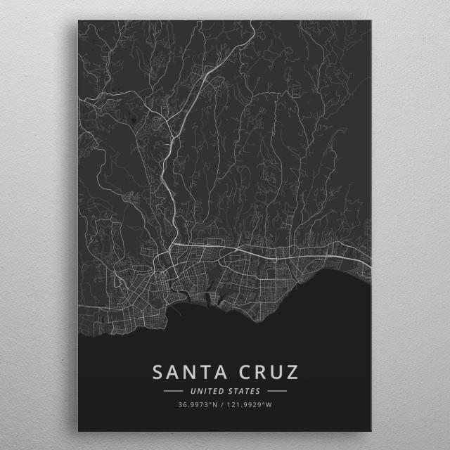 Santa Cruz, United States metal poster