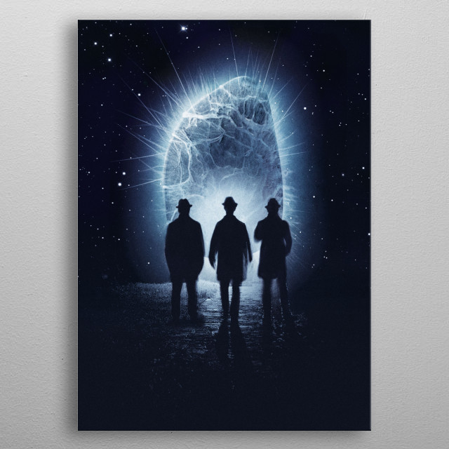 It just appeared out of nowhere… who knows what it wants metal poster