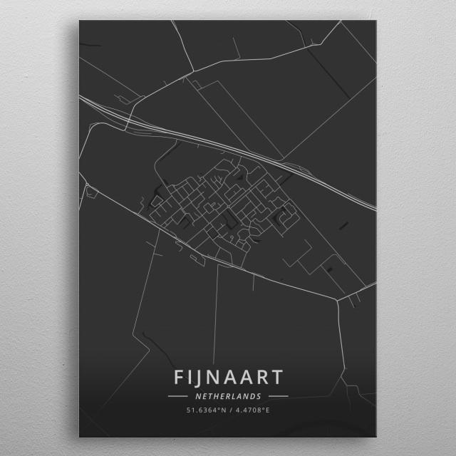 Fijnaart, Netherlands metal poster
