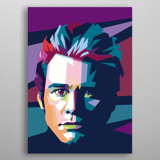 Jim Carrey pop art metal poster