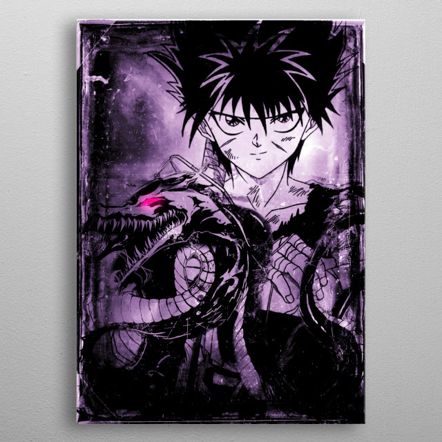 Hiei Dragon of the Darkness Flame (technique) metal poster