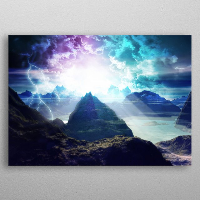 A little closer to paradise. 3D creation and edited on photoshop. HD on  metal poster