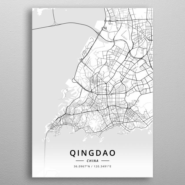 Qingdao, China metal poster
