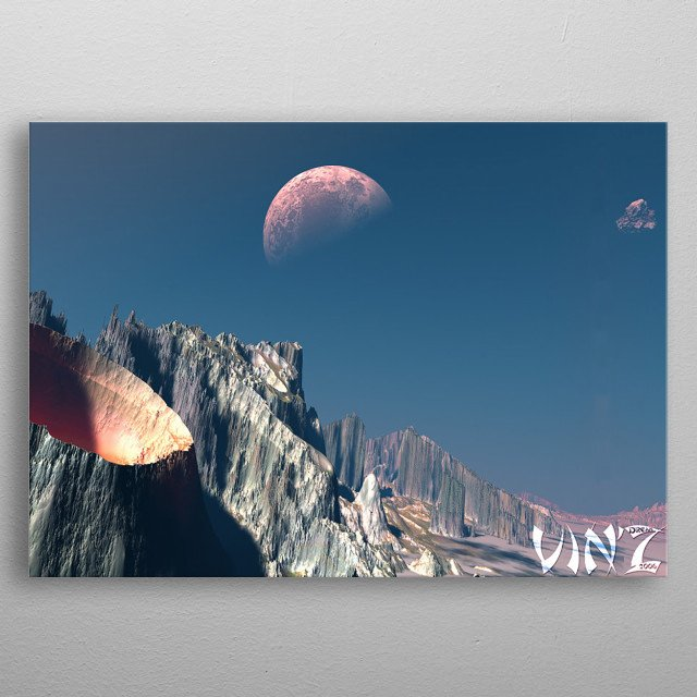 The Moon metal poster