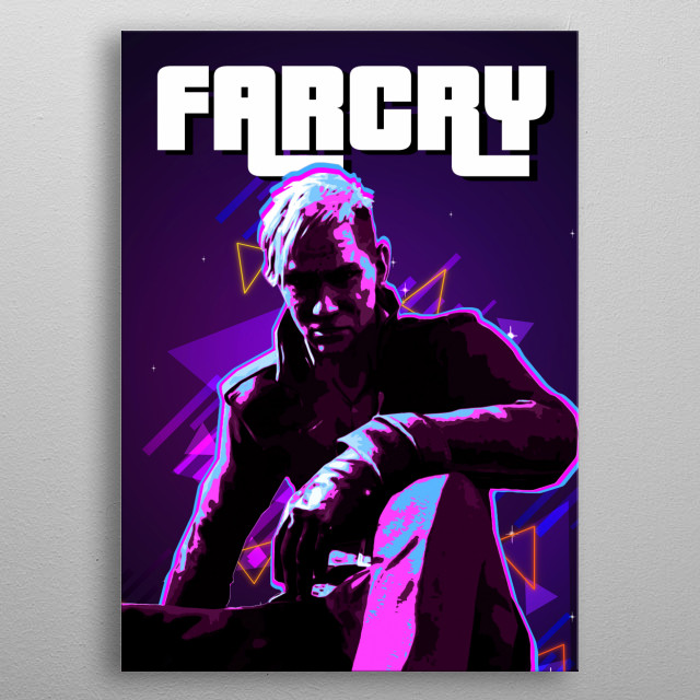 Farcry  with retro effects metal poster