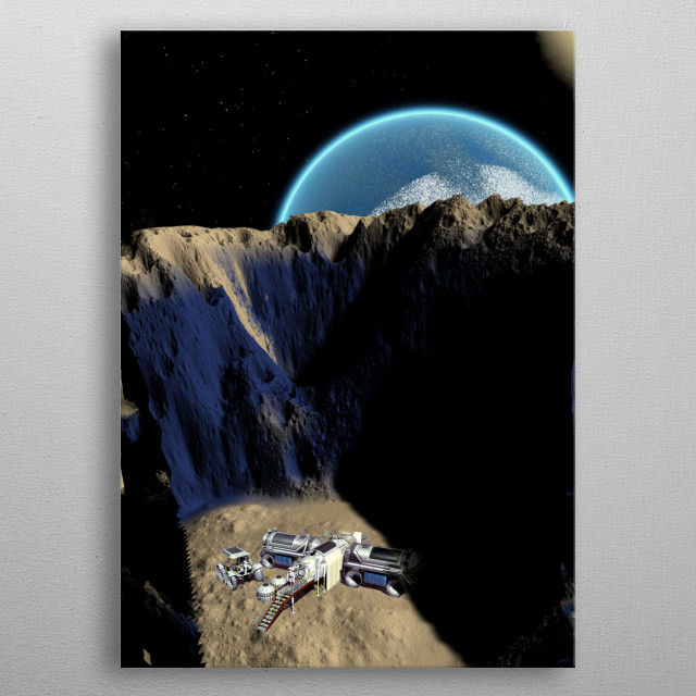 I like this composition because we can look at it as well in landscape format as portrait. metal poster