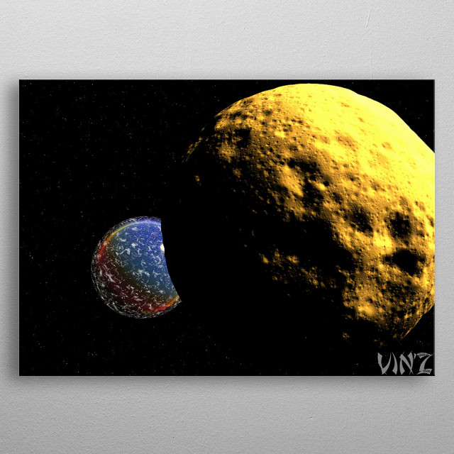 I focus mainly on digital visual arts, with potential for materialization for wall hanging purposes. metal poster