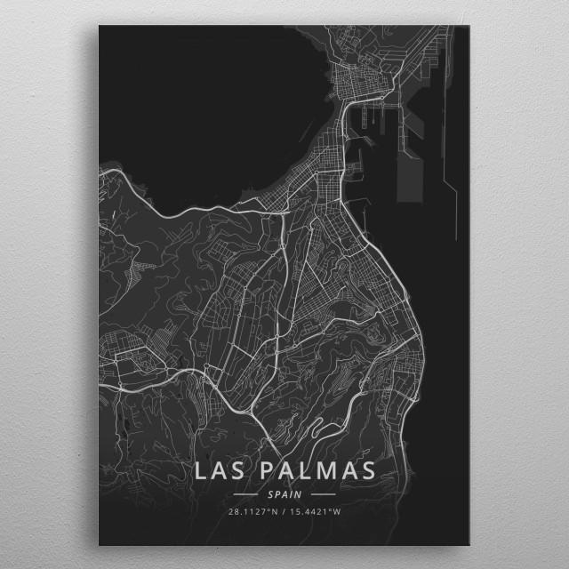Las Palmas, Spain metal poster