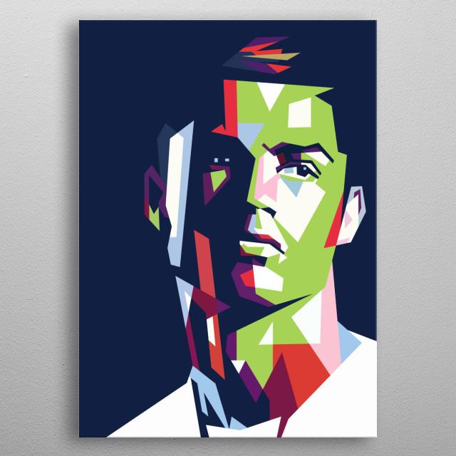 Cristiano ronaldo the best footballer  metal poster