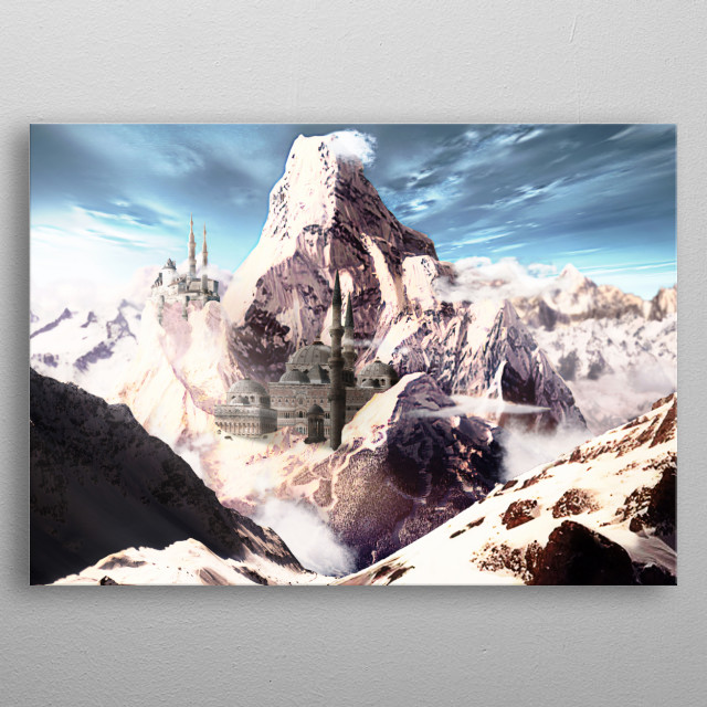 matte painting 2 metal poster