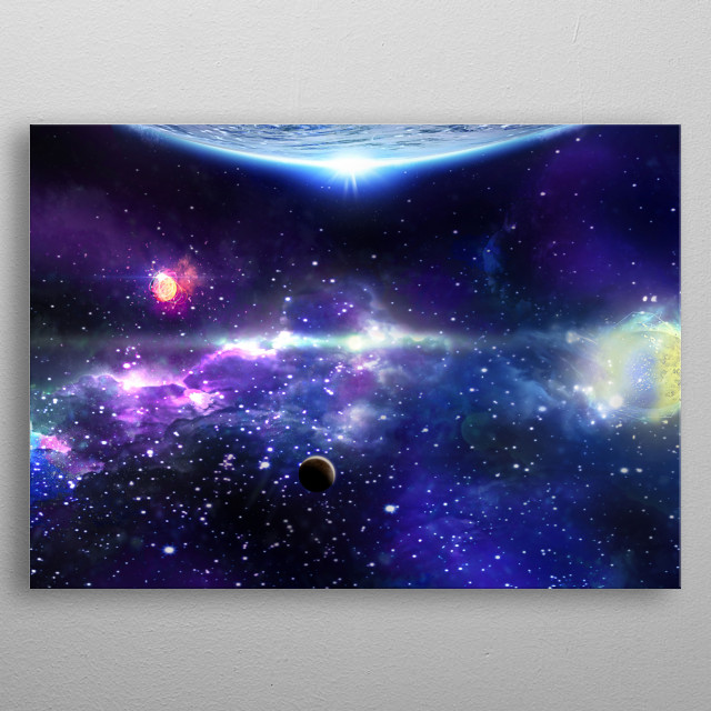 To dream is to scrutinize the stars and interpreting their message.  metal poster