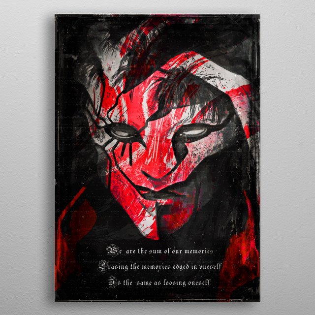 Ergo proxy anime quote tribute metal poster