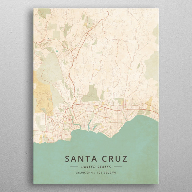 Santa Cruz, United States metal poster