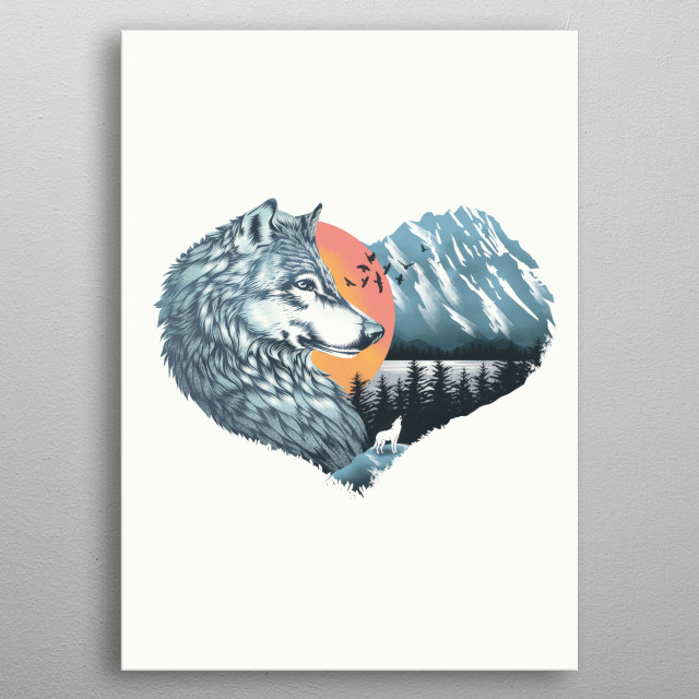 As the wild heart howls metal poster