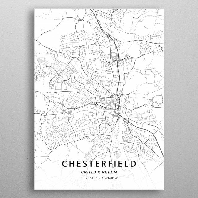 Chesterfield, UK metal poster