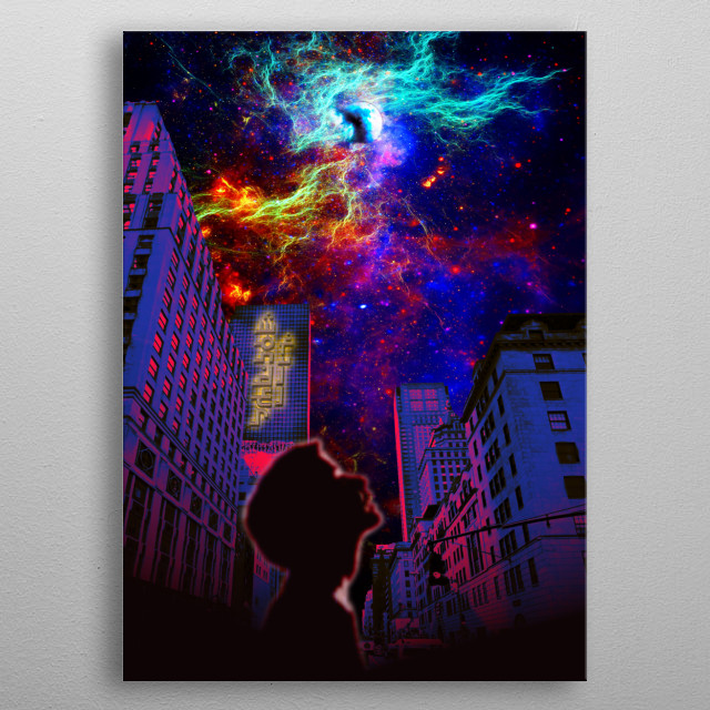 When the imagination of a child dwarfs us all. metal poster