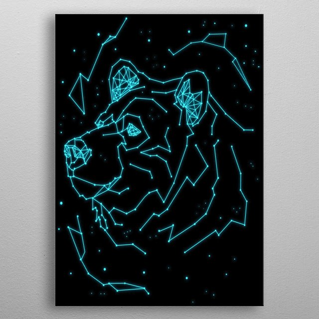 Do you love bears and stars? Get this star sign bear displate for your home. Perfect for kid's room living rooms metal poster