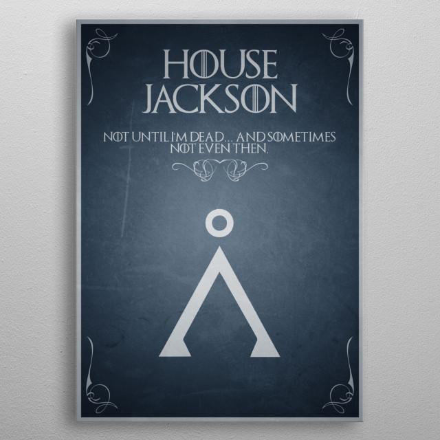 House Jackson metal poster