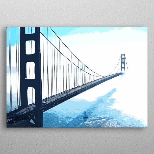 Golden Gate Bridge metal poster