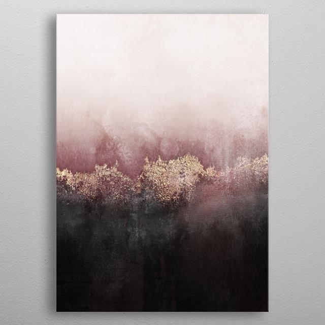 Digitally edited mixed media painting. metal poster