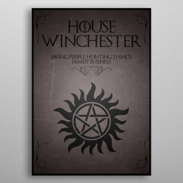 House Winchester metal poster