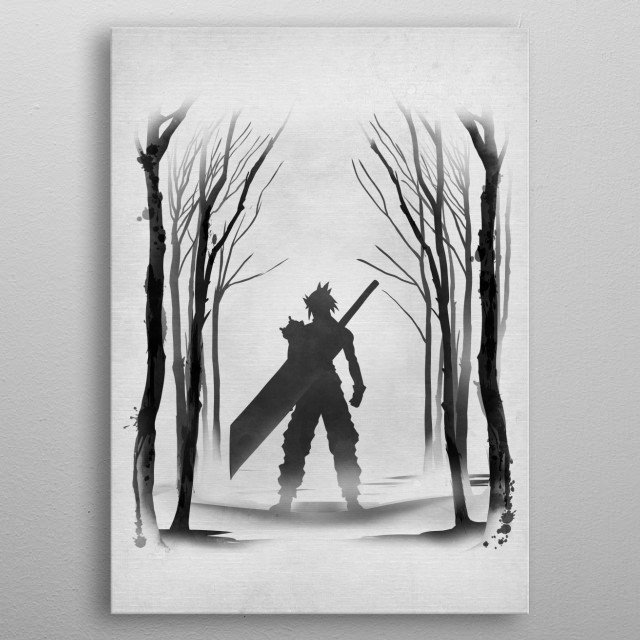 Tribute to FFVII metal poster