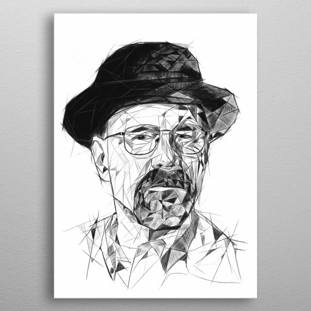 Walter White - Heisenberg. Breaking Bad TV show. Pop culture collection. metal poster