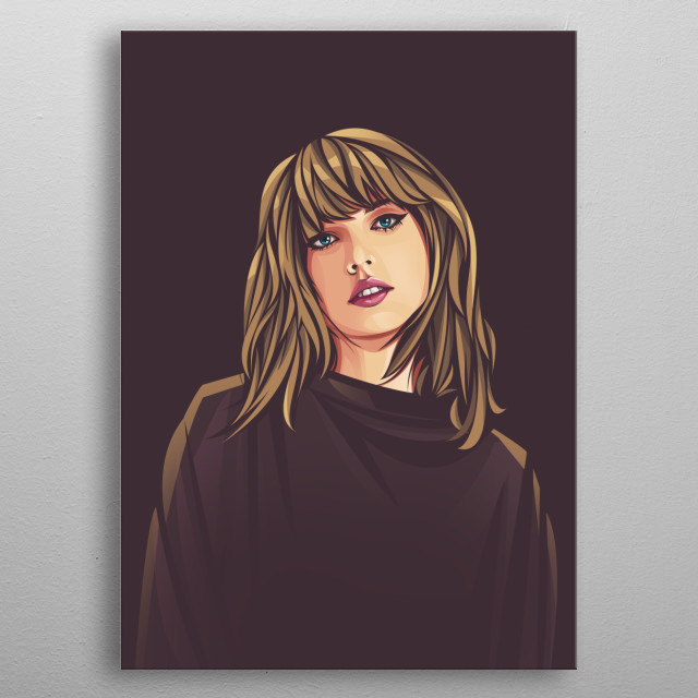 Taylor Alison Swift is an American singer-songwrite metal poster