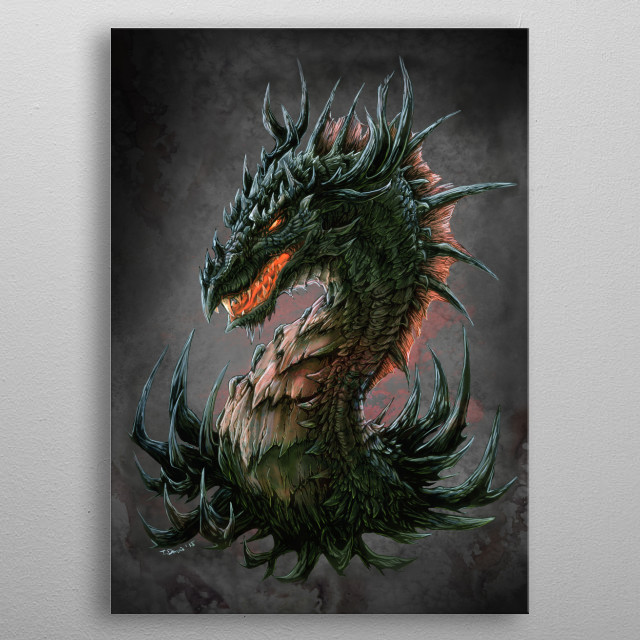 If you like your dragons proud, cunning and ferocious then you've come to the right place... metal poster