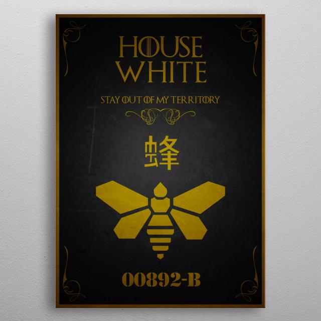 House White metal poster
