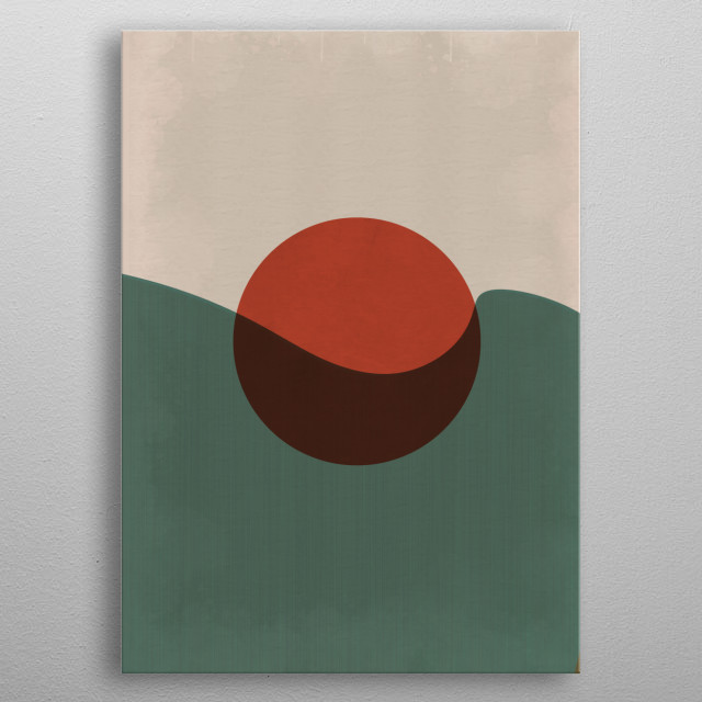 Abstract Geometry Vintage metal poster