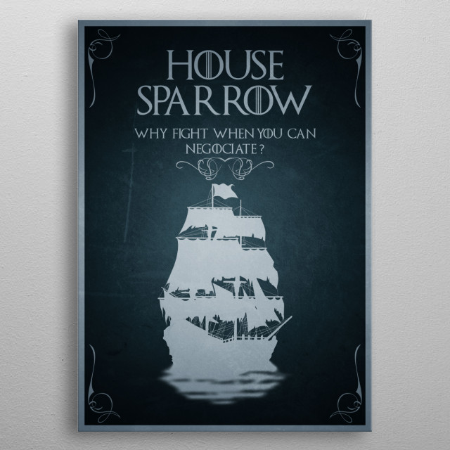 House Sparrow metal poster
