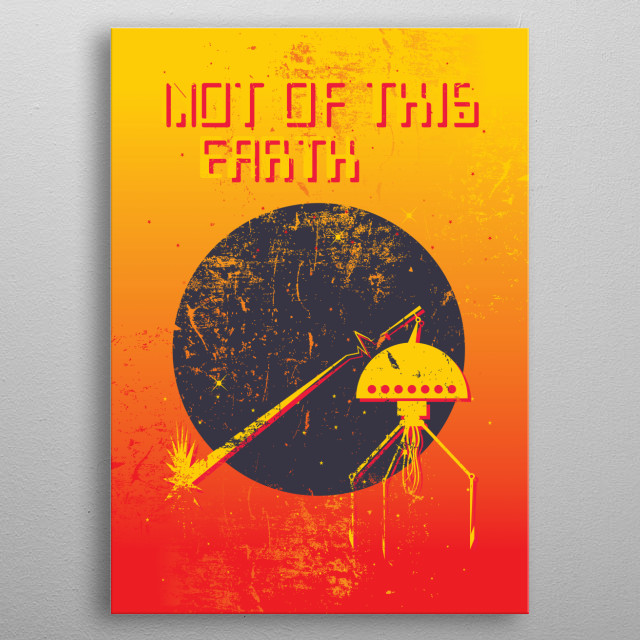 Retro inspired space/sci-fi themed poster metal poster