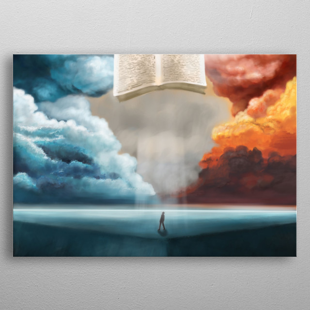 in search of truth. People seek truth and truth not far from them. It is given to us through the word of God metal poster