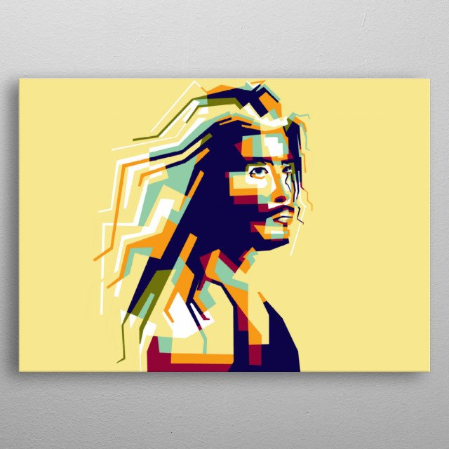 Steve harris artist legend musician america in style wpap popart portrait colourful  metal poster